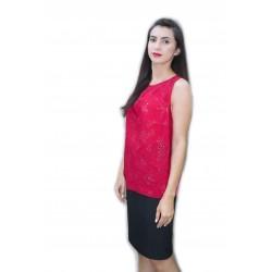 Bluza rosie stil chimono,...