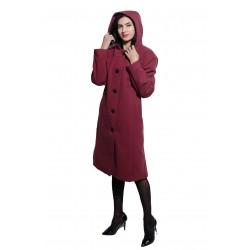 Palton de dama, cu gluga,...