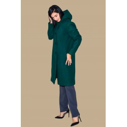 Palton verde cu gluga...
