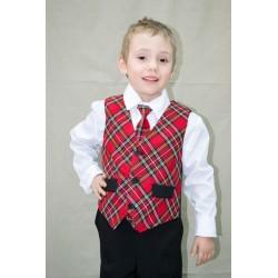 Cravata mare carouri rosii...